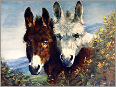 Gallery print  The Wise Ones (Donkeys) - Lilian Cheviot