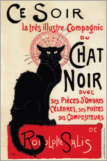 Wall sticker  Chat Noir (Black Cat - French) - Théophile-Alexandre Steinlen