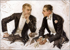 Premium poster  Noble gentlemen in tuxedos - Joseph Christian Leyendecker