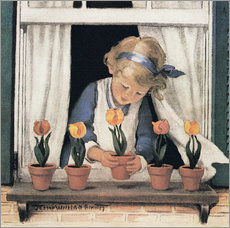 Wall sticker  Potting tulips - Jessie Willcox Smith