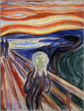 Aluminium print  The scream - Edvard Munch