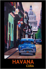 Wall sticker  Vintage car street scene in Havana - M. Bleichner