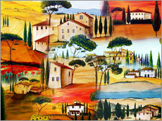 Gallery print  Tuscany Collage - Christine Huwer