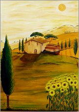 Wall sticker  Sunflowers in Tuscany - Christine Huwer