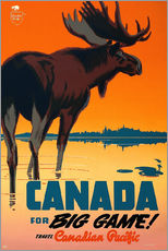 Wall sticker  Canada travel for big game