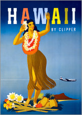 Gallery print  Hawaii by Clipper vintage travel - Travel Collection