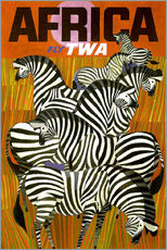 Gallery print  Africa Fly TWA - Travel Collection