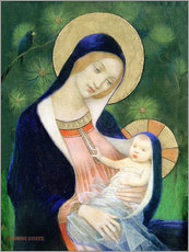 Gallery print  Madonna and child - Marianne Stokes