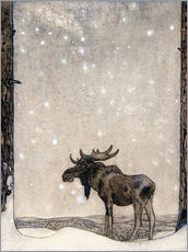Wall sticker  Elk in the Snow - John Bauer