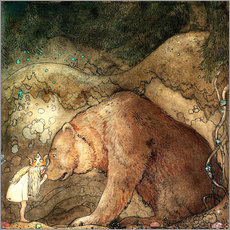 Wall sticker  Poor little bear - John Bauer