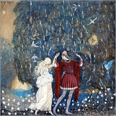 Gallery print  Lena dances with the knight - John Bauer
