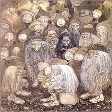 Wall sticker  The trolls and the gnome boy - John Bauer