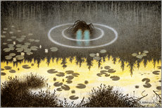 Gallery print  Nøkken, The Monster of the Lake - Theodor Kittelsen