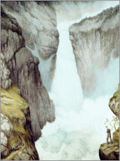 Wall sticker  At the waterfall - Theodor Kittelsen