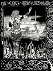 Wall sticker  How Sir Bedivere Cast the Sword Excalibur into the Water - Aubrey Vincent Beardsley