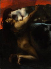 Canvas print  The Kiss of the Sphinx - Franz von Stuck