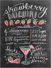 Wall sticker  Strawberry Daiquiri recipe - Lily & Val