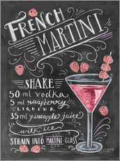 Wall sticker  French Raspberry Martini recipe - Lily & Val