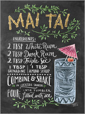 Wall sticker  Mai Tai recipe - Lily & Val