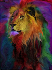 Wall sticker  Rainbow Lion - Alixandra Mullins