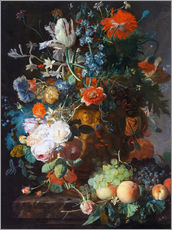 Gallery print  Still Life with Flowers and Fruit - Jan van Huysum