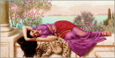 Gallery print  The sweet idleness (Dolce Far Niente) - John William Godward