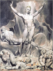 Wall sticker  satan arousing the rebel angels - William Blake