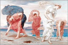 Wall sticker  Greek girls picking up pebbles - Frederic Leighton