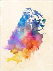 Wall sticker Colorful lion