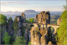Wall sticker  Bastei Bridge in Saxon Switzerland in the morning - Michael Valjak