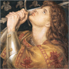 Gallery print  Knight with sword - Dante Charles Gabriel Rossetti