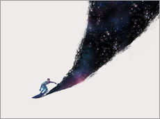 Wall sticker  Surfing the universe - Robert Farkas