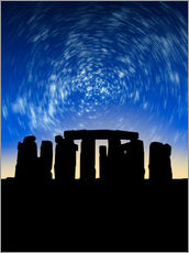Wall sticker  Star trails over Stonehenge - VICTOR HABBICK