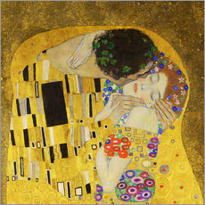 Wall sticker  The Kiss (detail cross) - Gustav Klimt