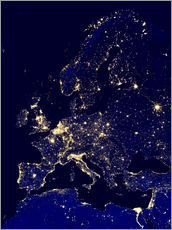 Gallery print  Europe at night - Nasa