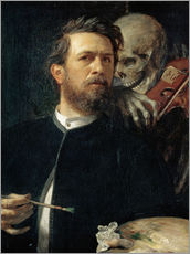 Gallery print  Self-Portrait with Death Playing the Fiddle - Arnold Böcklin