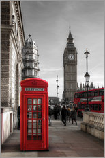 Gallery print  London telephone box and Big Ben - Filtergrafia