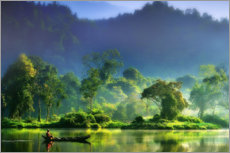 Canvas print  Indonesian river landscape - hardibudi