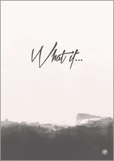 Wall sticker  What if... - m.belle