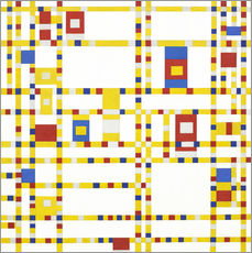 Wall sticker  Broadway Boogie Woogie - Piet Mondrian