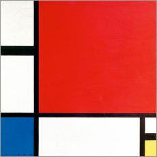 Gallery print  Composition with Red, Yellow and Blue - Piet Mondriaan