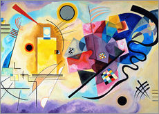 Gallery print  Yellow, red and blue - Wassily Kandinsky