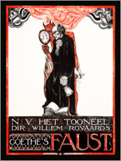 Wall Stickers  Poster for Goethes Faust - Richard Roland Holst