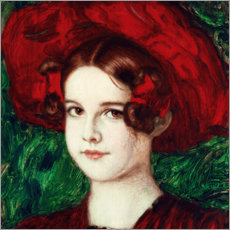 Gallery print  Mary with a Red Hat - Franz von Stuck