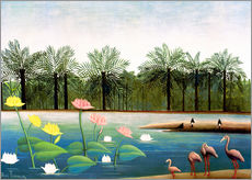 Gallery print  The flamingos - Henri Rousseau