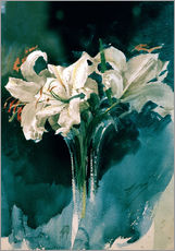 Wall Stickers  White Lilies - Anders Leonard Zorn