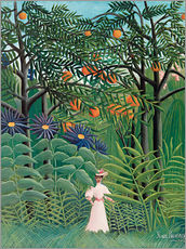Wall sticker  Woman in an exotic forest - Henri Rousseau