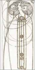 Gallery print  Drawing for a New Year's Card - Charles Rennie Mackintosh