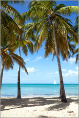 Wall sticker  Palm beach with sailboat, Martinique - Matteo Colombo