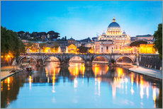 Gallery print  St. Peter and Tiber, Rome - Matteo Colombo